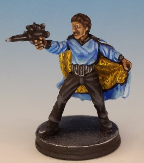 Lando Calrissian painted and photographed by Matthew of www.oldenhammer.com